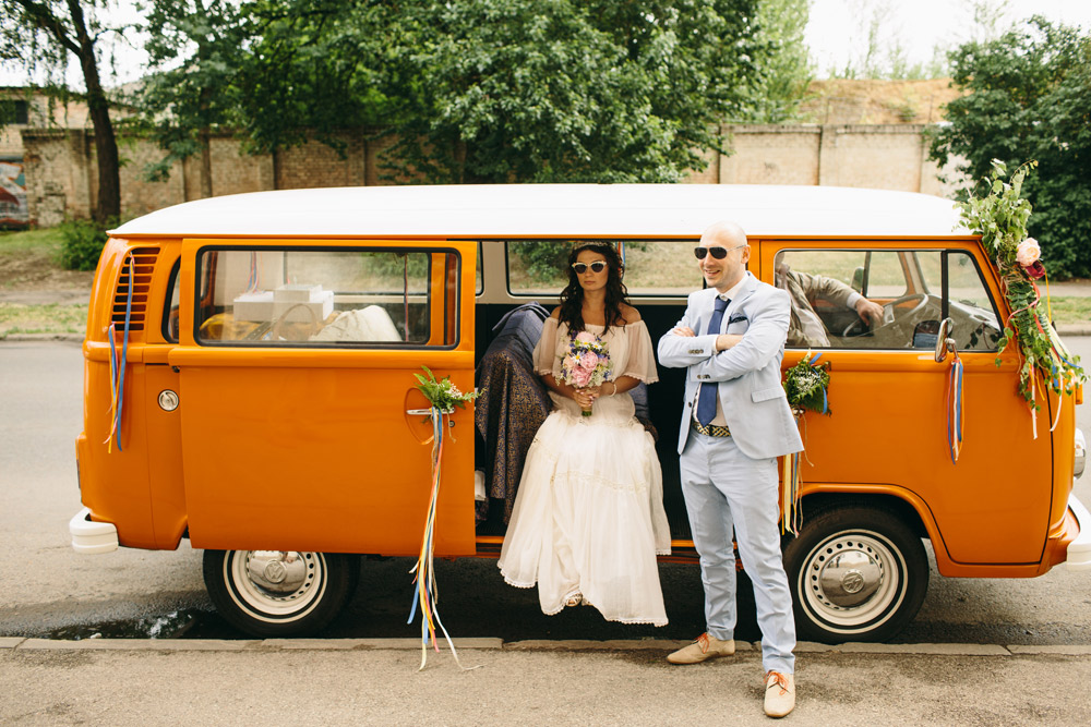Veclaicīgs kāzu auto - Volkswagen T2