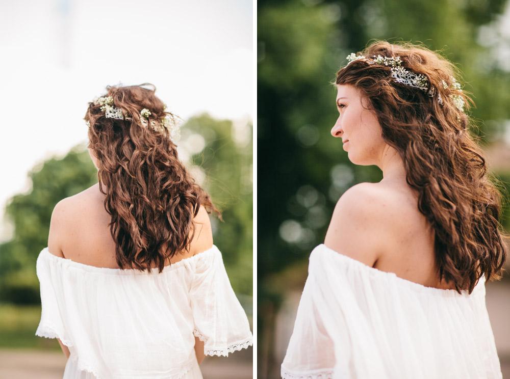 Līgavas skaistā frizūra