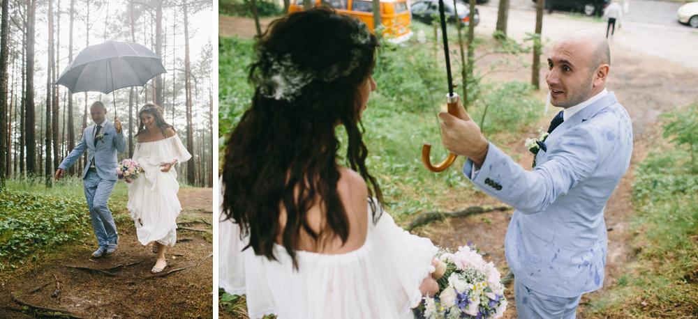 Vasaras lietus kāzu dienā