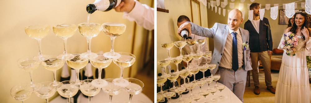Šampanieša lietus Kāzu dienā