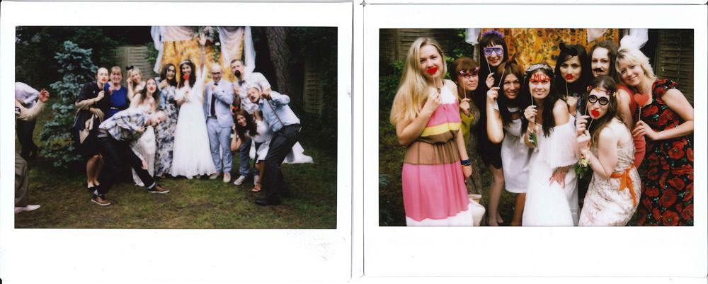 Polaroid kāzu vakaram