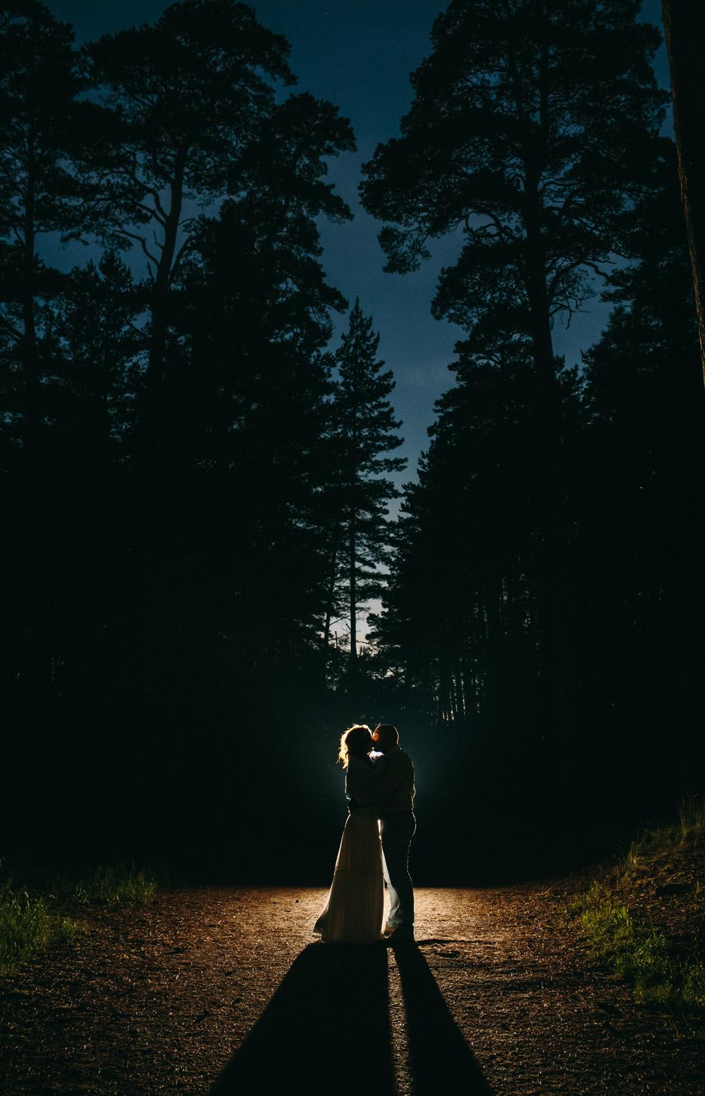 Nakts fotosesija kāzas