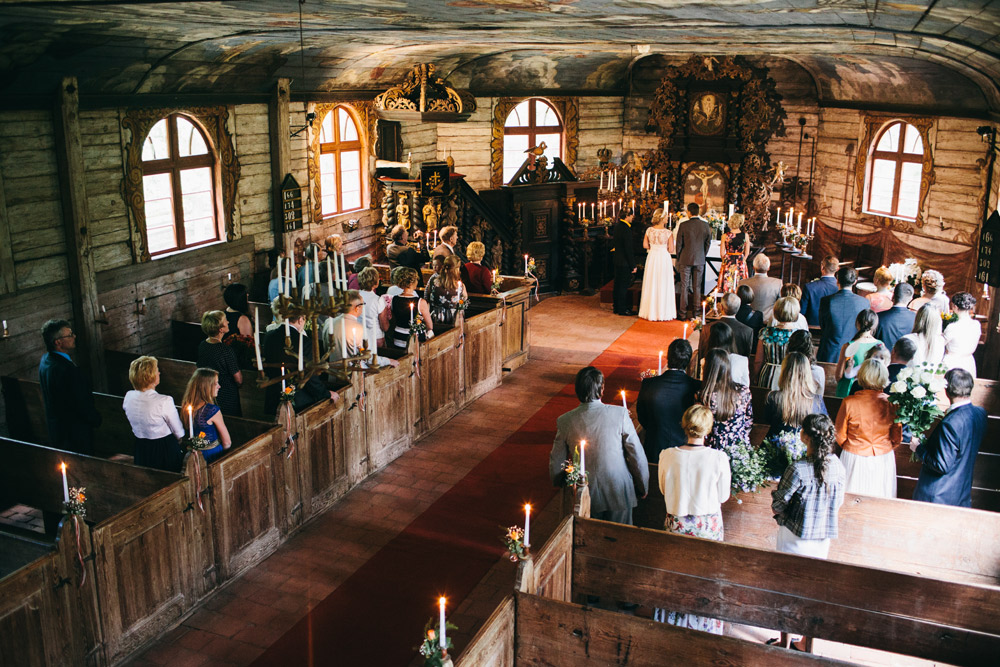 Kāzu ceremonija Usmas baznīcā