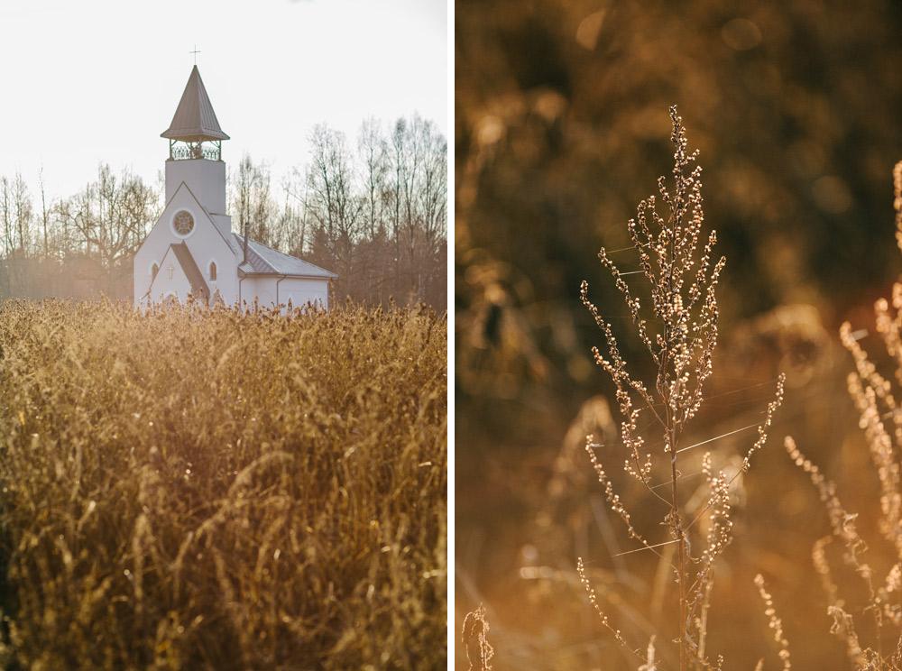 Kāzu fotogrāfs rudenī
