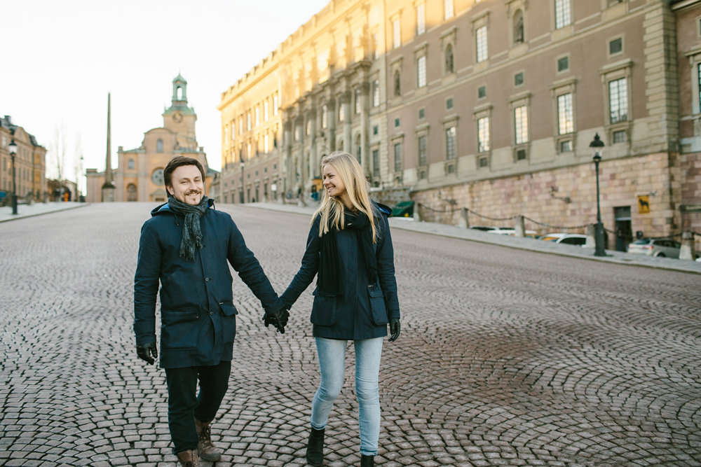 stockholm engagement photography
