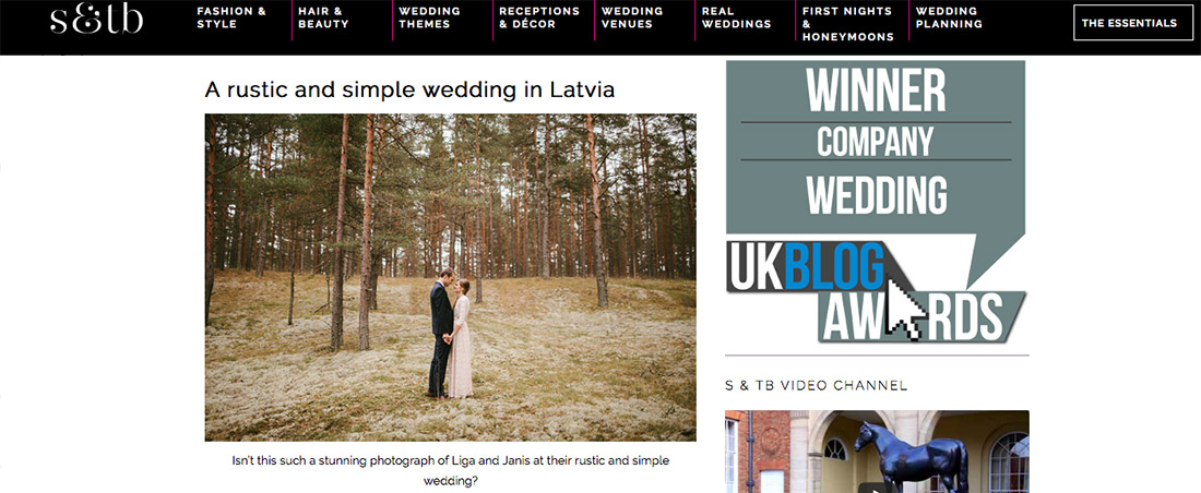"""Rudens """"rustic"""" kāzas publicētas Anglijas kāzu blogā"""