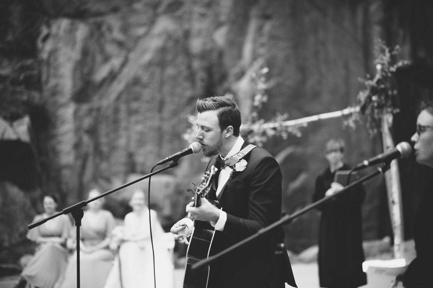 open air wedding ceremony in norway