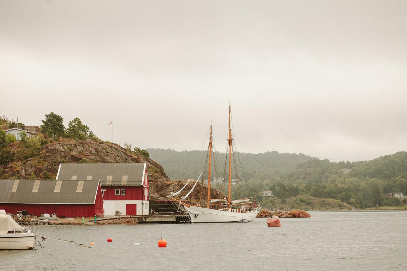 boat wedding in norway