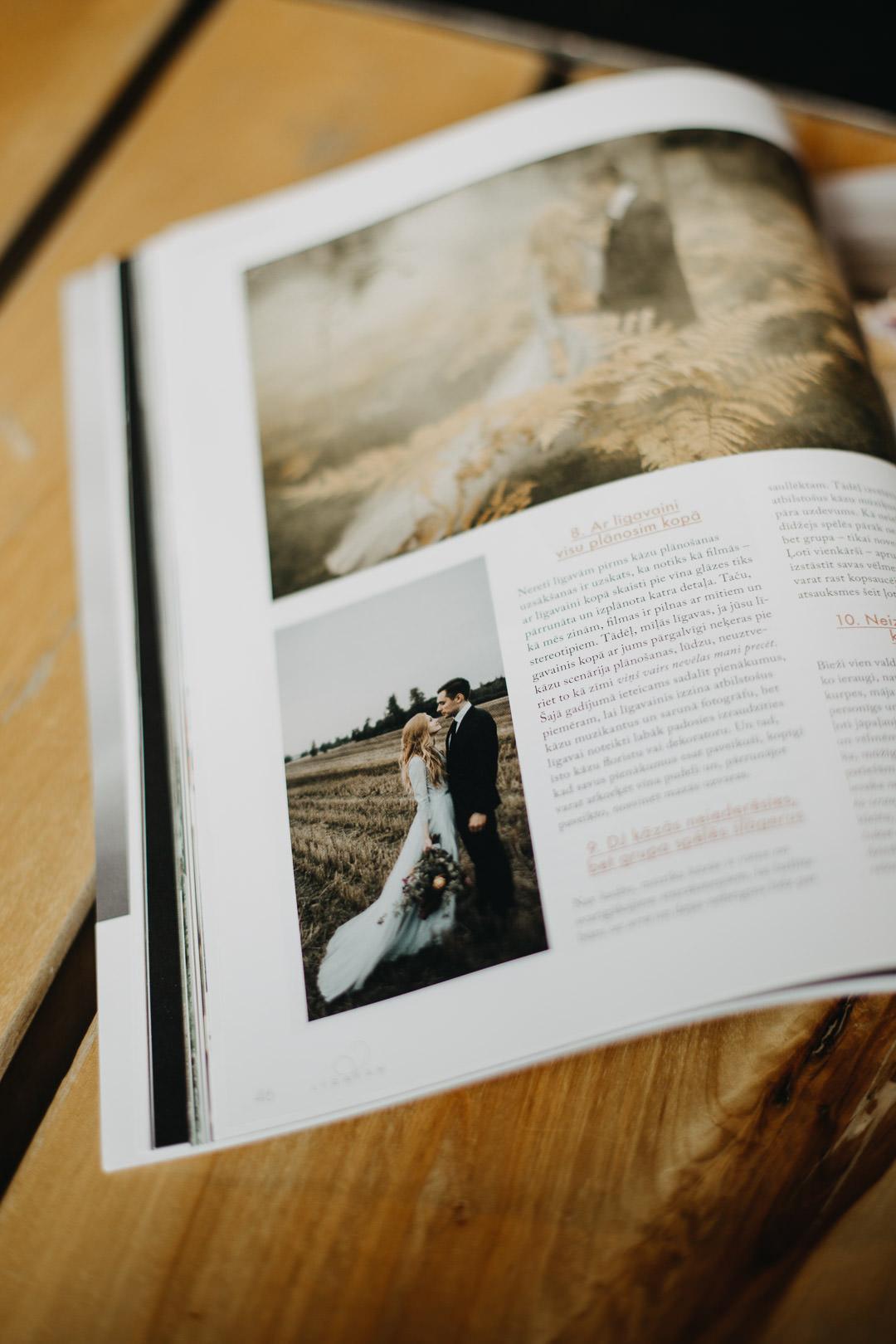 Rudens kāzu fotosesija