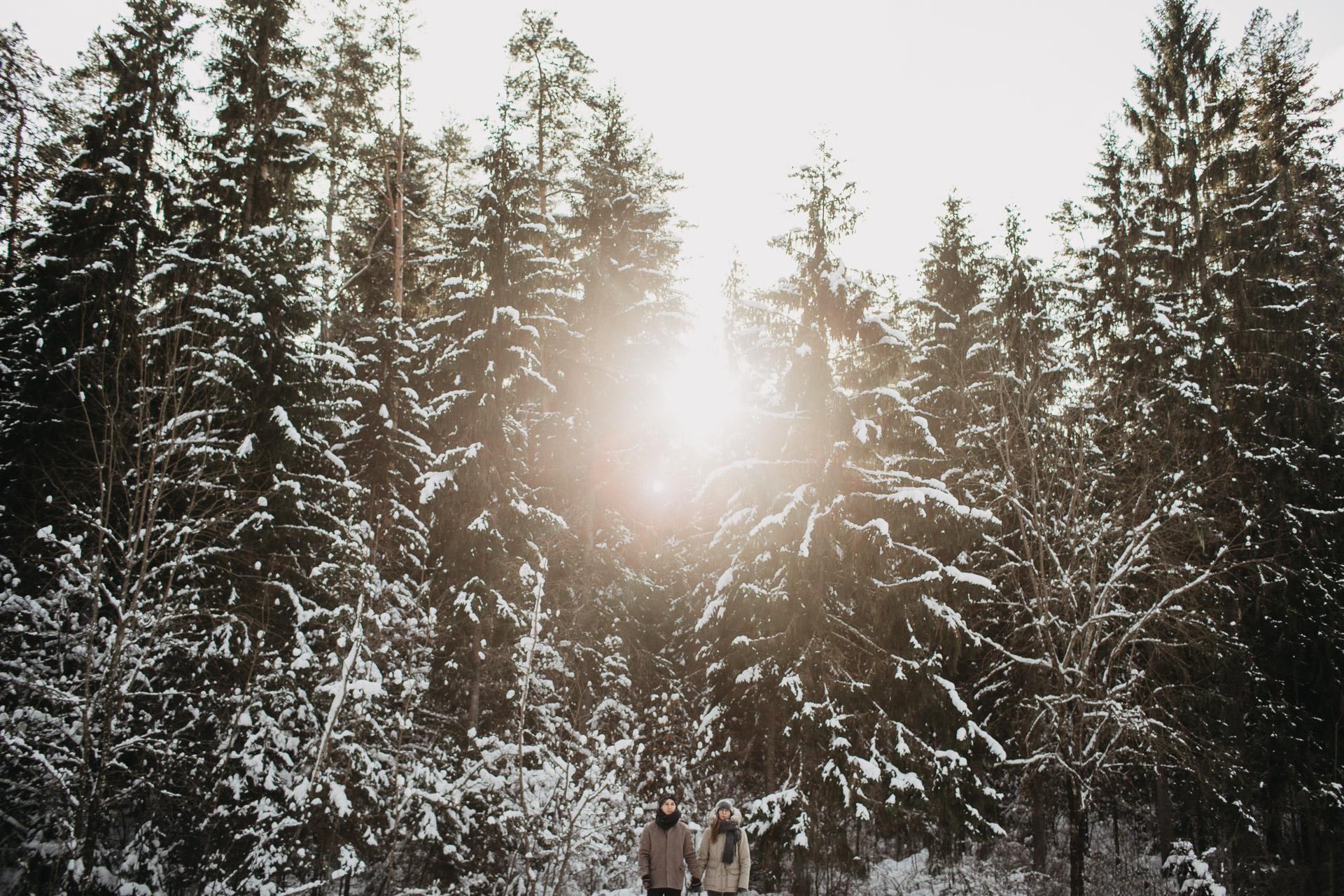 Ziemas fotosesija ko vilkt