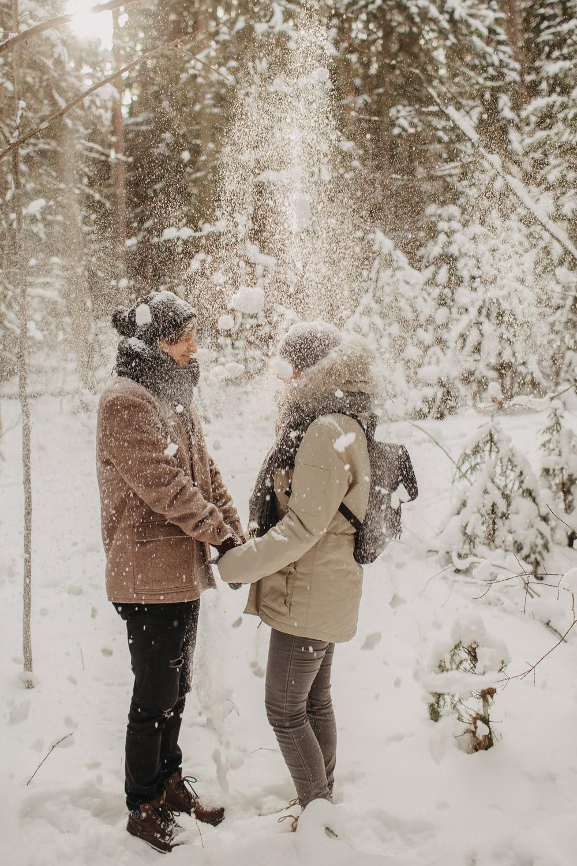 Ziemas fotosesijas dabā